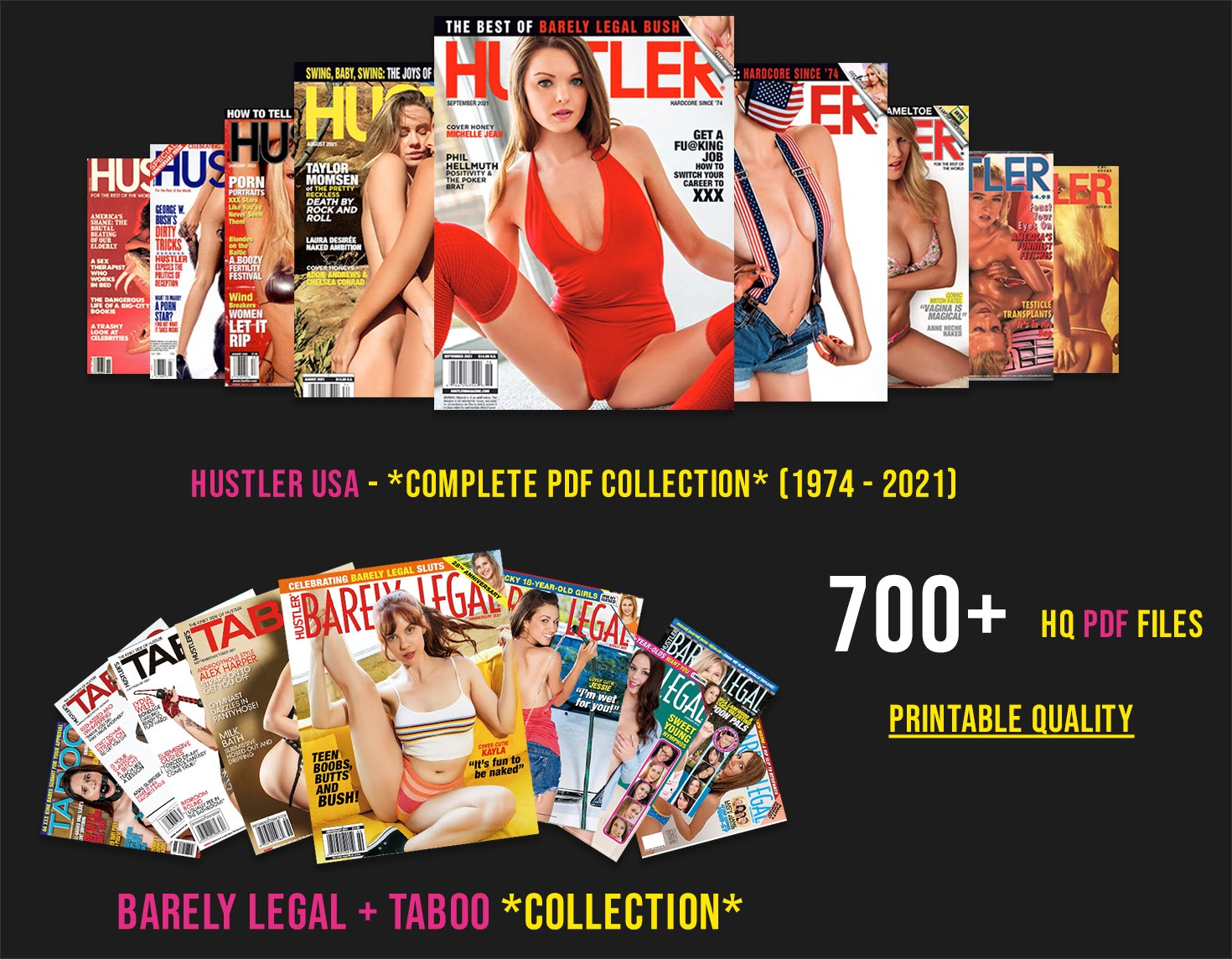 For The First Time Ever, Download The Complete Hustler Adult Magazine Digital Collection (1974 – 2021)